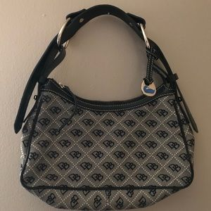 Dooney and Burke small purse. Black lettering